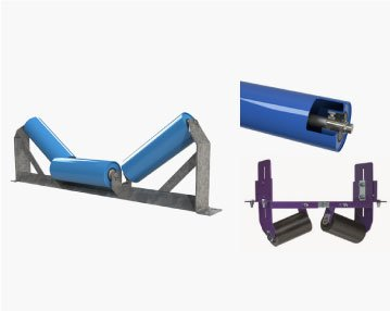 Conveyor Belt Rollers, Idlers and Frames